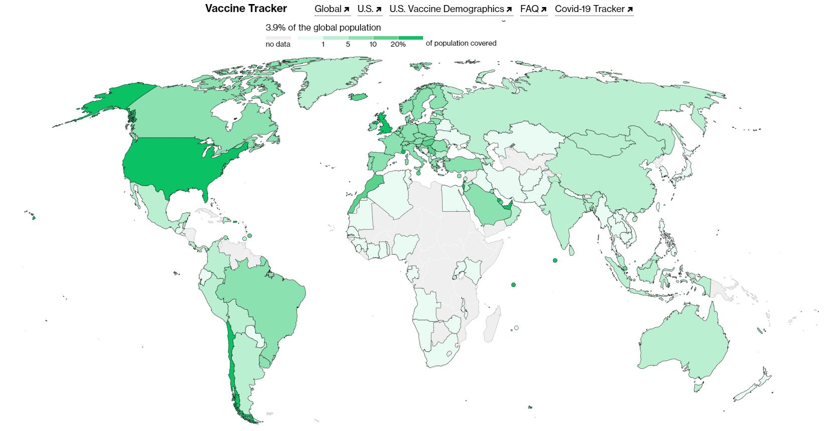 """Bloombergova """"vakcina-mapa"""" svijeta; BiH je na njoj """"bijela rupa"""""""