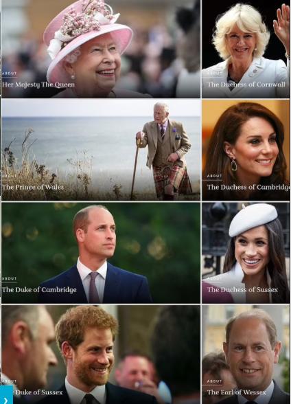 Ovako je zvanična stranica kraljevske porodice izgledala prije promjena