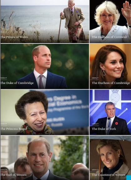 Novi izgled zvanične stranice kraljevske porodice